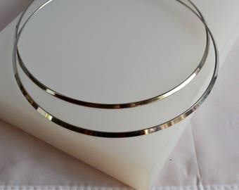 Silver rigid torque Choker necklace