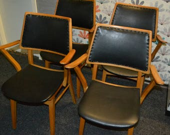 True vintage Danish design chairs 70s brown/green