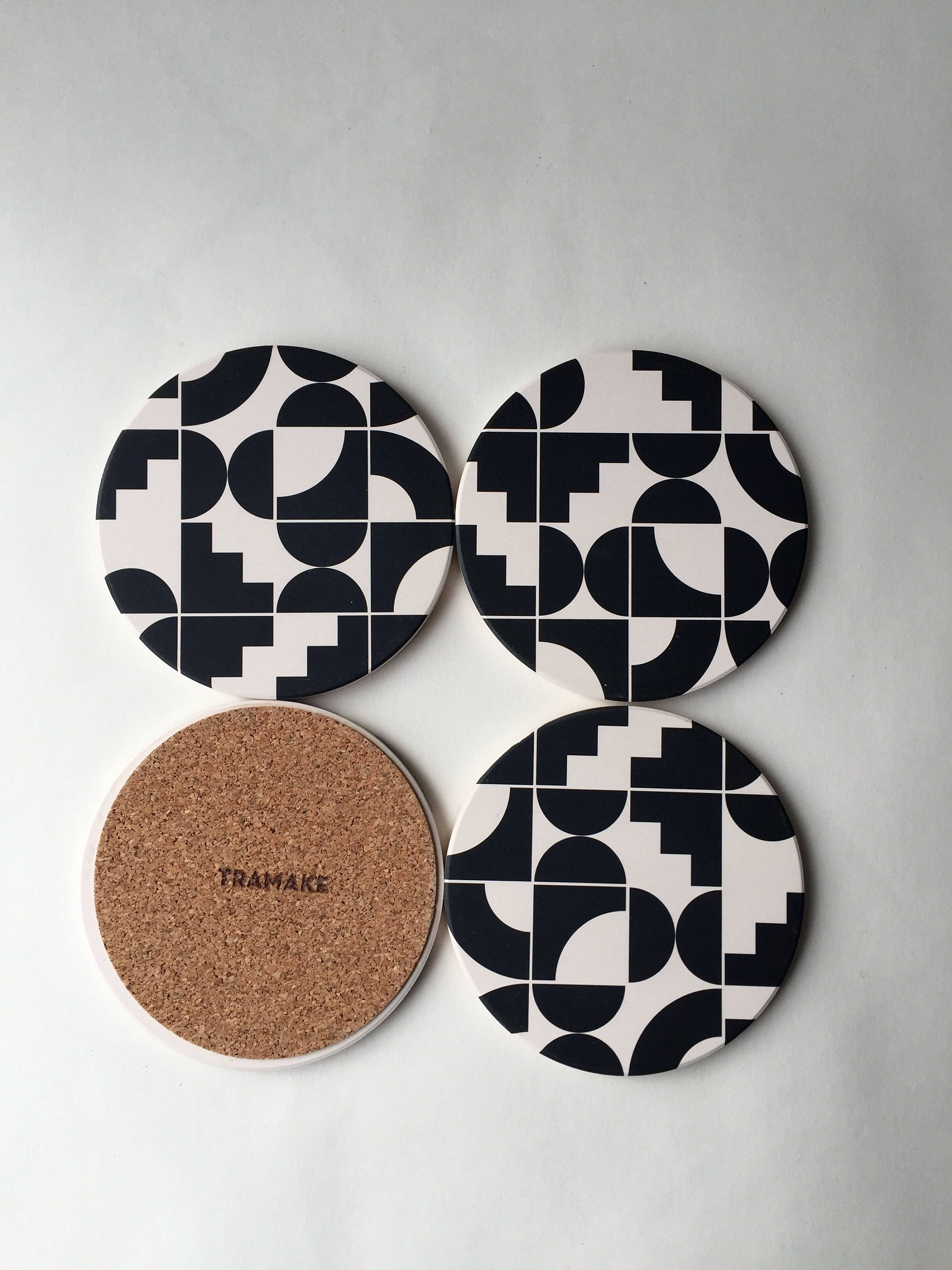 Shapes absorbent stone coaster set of 4 - Stone absorbent coasters ...
