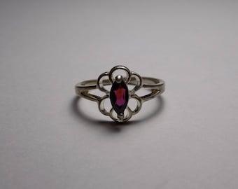 Sterling silver garnet ring size 8