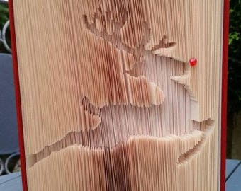 Reindeer Book Art Pattern, 265f plus tutorial