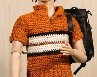 Ken clothes Ken shirt Ken crochet Handmade crochet T-shirt for Ken dolls, Fashion Royalty and other male dolls with similar body size.