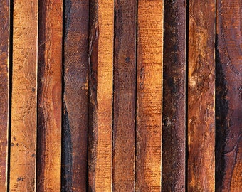 Brown Wood Backdrop - rustic vintage bright planks, wooden floor - Printed Fabric Photography Background W0108