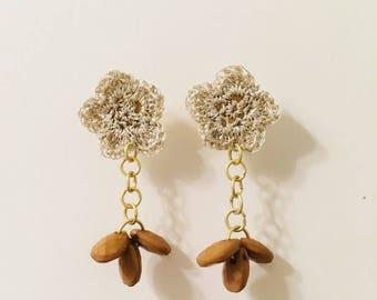 Metallic Crochet Earrings