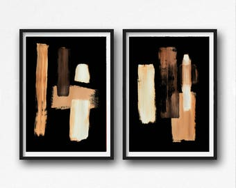 Digital Print, contemporary art, rustic home decor, wall art abstract, digital image,  black and neutral colours abstract, beige, ivory