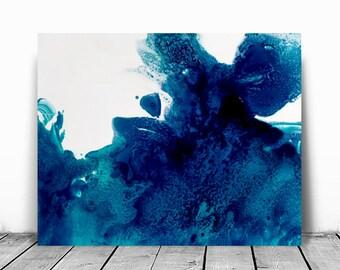 Wall Decor, Fine Art ,Colorful Artwork, Gifts For Her, Bright Wall Art, Trendy Wall Decor, Trending Art, Art Aqua Decor, blue small abstract