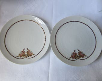 ROSENTHAL WIINBLAD  2 small side plates  Porcelain, Romance Orchid Design 60/70's Vintage Retro