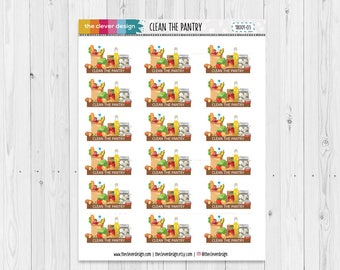 Clean the Pantry Planner Stickers | Cleaning Planner Stickers | 18001-03