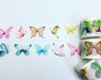 Watercolour butterfly washi tape