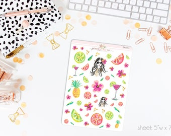 Citrus Splash Deco Stickers // Perfect for ECLP, A5, Personal, Filo, or any planner // D0760