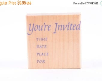 You're Invited, Text, Invitations, Supplies, Single Stamp, Vintage, Card Making, Crafts ~ 161012A