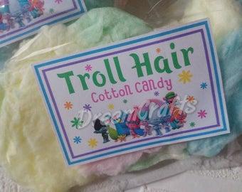 Trolls label. Trolls hair. Trolls sticker. Trolls party favor. Trolls dessert sign. Trolls birthday. Trolls party. Trolls sign. Trolls favor