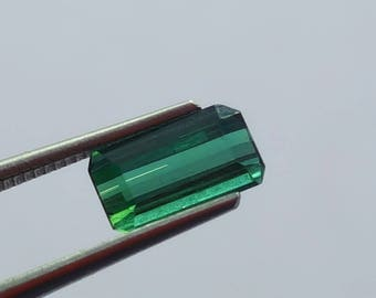 WOW 1.05 Carat Green Color Loose tourmaline gemstone from@ Afghanistan 9.5*5*4.5mm (9)