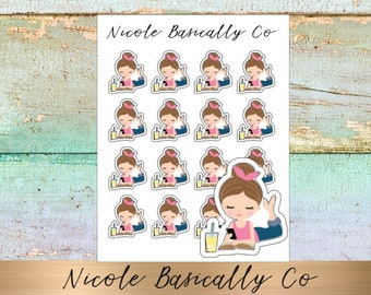 Jade Dolls- Me Time- Reading- Planner Stickers-