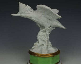 "Antique E&A Muller figurine Bird ""Kingfisher"""