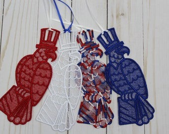 Eagle Bookmark ~ Patriotic ~ Free Standing Lace ~ Suncatcher ~ Page Marker ~ Bookworm ~ Gift
