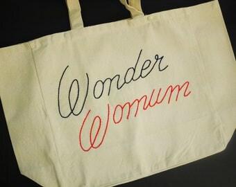 "cabas ""Wonder Womum"""