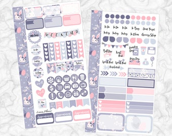 Easter Bunny PERSONAL Kit   Stickers for your Erin Condren, Happy Planner, Kikki K, Filofax and more