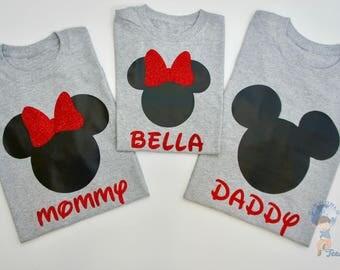 Mickey and Minnie T-shirts, Disney Trip, Family Set T-shirts, Personalized Disney T-shirts, Mickey Mouse T-shirts, Minnie Mouse T-shirts