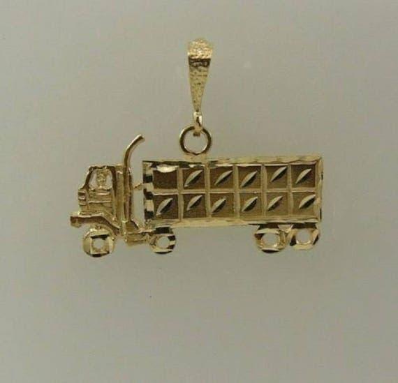 Truck Pendant 14k Yellow Gold