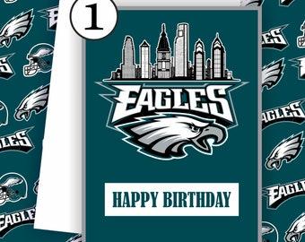 Eagles Card -  Philadelphia Eagles Fan, Football Team Card,  Football Greeting Card