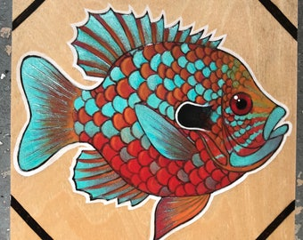 Pumpkinseed Sunfish Woodburning
