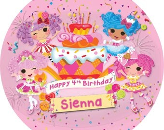 Lalaloopsy Round Edible Image Real Icing personalised Cake Topper