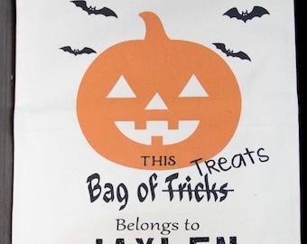 Personalized Halloween Bag - Personalized Trick or Treat Bucket - Halloween Sack - Kids Halloween Bucket - Trick or Treat - Halloween Decor