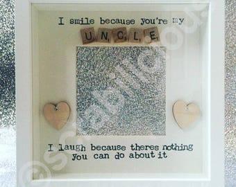 Scrabble Frame Uncle