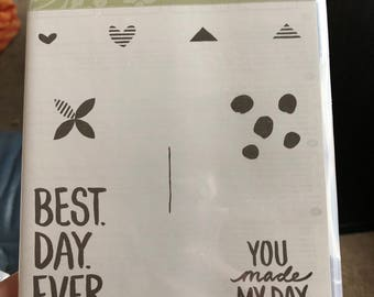 Stampin Up! Best day Ever, stamp set. NEW!! Never used