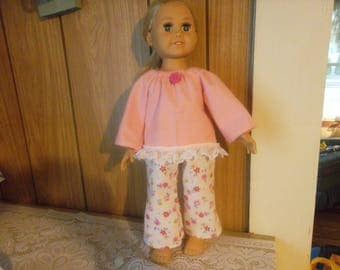 Flannel 18 inch Doll Pajamas (doll not included)