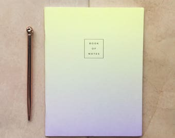 A5 lemon and lilac fade-out notebook