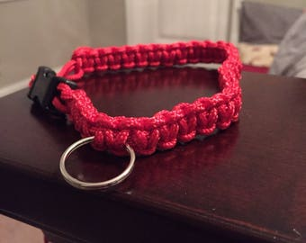 Red Paracord Collar