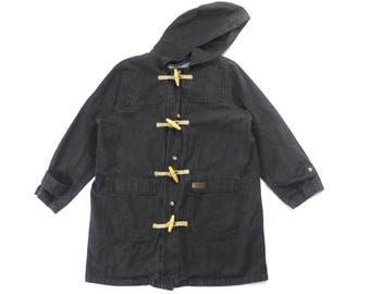 Vintage denim toggle coat ( denim jacket , jean jacket )!