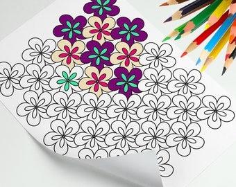 Mini coloring book Etsy