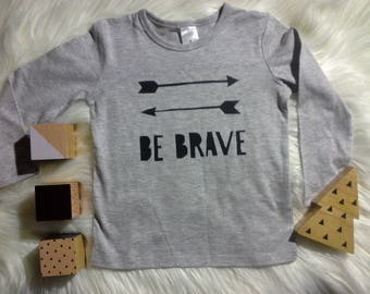 Be Brave boys screen printed tshirt