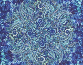 "Belize by Chong-A Hwang for Timeless Treasures.  This is a fabric panel 23.5"" by 44."""