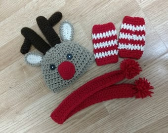 Reindeer Newborn Photo Props