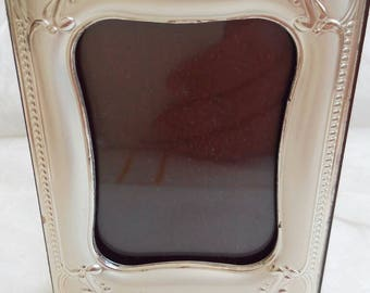 Antique silver picture frame and Burr Walnut