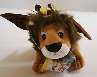 "Misfit Toy KING MOONRACER Lion Island Of Misfit Toy Plush Doll NWT 10"" Cvs Rudolph Red-Nosed Reindeer Christmas Toy Storybook Variant"