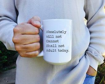 Mug, sarcastic mug, funny mug, gift for coworker, coffee mug, work gift, coffee cup, mug gift, coffee lover gift, gift under 20, m4
