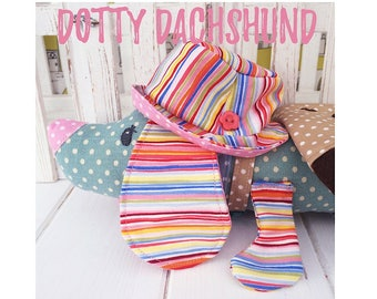 Dachshund 'Dotty' Puppy Dog and Accessories PDF Sewing Pattern