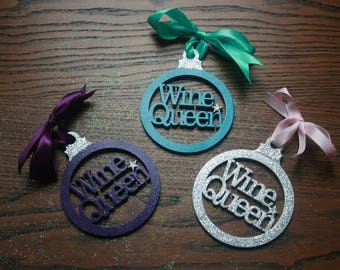 Wine queen laser cut bauble