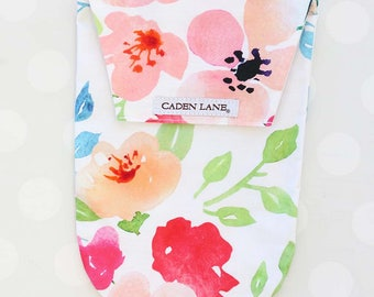 Fairy Tale Floral | Watercolor Floral Diaper and Wipe Holder | Watercolor Floral Baby Shower Gift