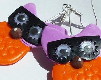 OWL fantomas nugget earrings
