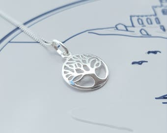 Tree of Life Necklace/Sterling Silver Tree of Life Necklace/Silver Tree of Life/Tree of Life Charm/Tree of Life Pendant/Tree of Life/Tree
