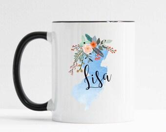 New Jersey Mug / Personalized Mug / Custom State Mug / Friend Gift / New Jersey Gift / 11 or 15 oz / History Teacher Gift / Moving Gift