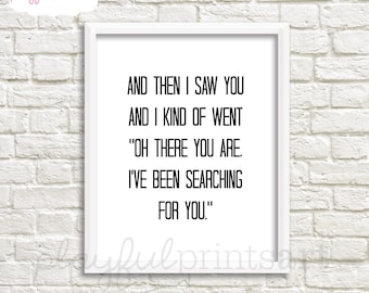 Searching For You Print, 8x10, Instant Download