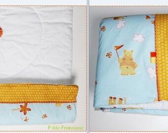 """Blanket/quilt theme """"Savannah"""" for bed 60/120 double cotton batting 2 cm."""