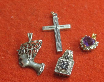 R- 36   Vintage pendants 4 items all are 925